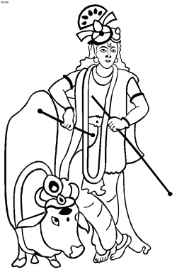 28+ Collection of Krishna With Cow Clipart | High quality, free ...