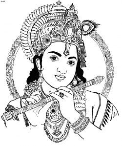 28+ Collection of Krishna Flute Clipart Black And White | High ...