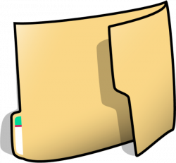 Paper In Folder Clipart