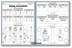 Weekly Assessments Unit 1 {For Use With Kindergarten Journeys ...