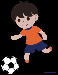 Boy Playing Soccer or Football Clip Art - Sweet Clip Art