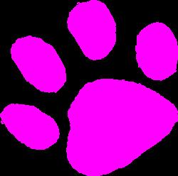 Pink Paw Print 123 Clip Art at Clker.com - vector clip art online ...