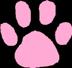 Pink Paw Print Clip Art at Clker.com - vector clip art online ...