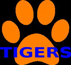 Orange Paw Print Tigers 2 Clip Art at Clker.com - vector clip art ...