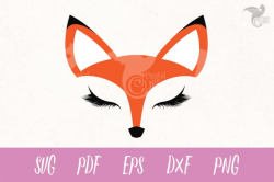 Fox Face SVG, fox svg, Eyelashes svg, red fox clipart, Cricut, Cameo, Cut  file, Clipart, Svg, DXF, Png, Pdf, Eps, woodland animal clipart