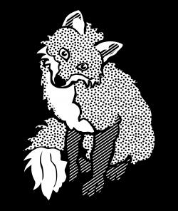 Clipart - fox - lineart
