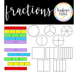 Free Fractions Clip Art | Teachers Pay Teachers