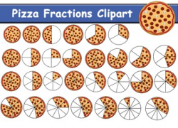 Pizza Fractions Clipart (81 clipart) | maths | Fractions ...