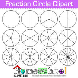 Free Fraction Circle Clipart. Use these to make your own set ...
