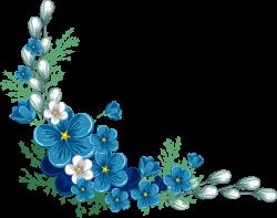 Blue Flowers Border PNG