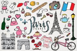 Paris Clipart - Paris France Clip Art, monuments clipart ...
