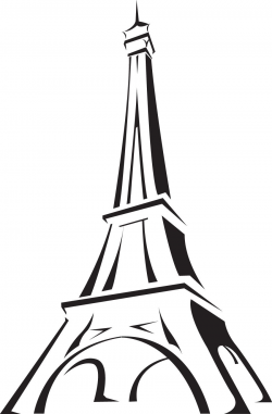 France clipart image the eiffel tower in paris france with ...