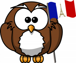 Clipart - Owl with French flag