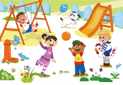 Schoolyard Playground Child Clip art - Cartoon children play 997*692 ...