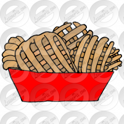 Waffle Fries Picture for Classroom / Therapy Use - Great ...