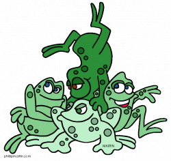 Animals Clip Art by Phillip Martin, Frog Pile