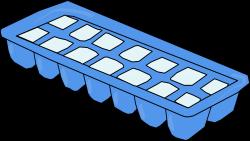 Clipart - Blue Ice Cube Tray