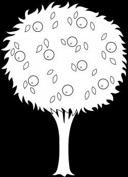 Orange Tree Line Art - Free Clip Art