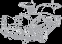 illustration-back-to-the-future-delorean.png (1600×1145) | Remeras ...