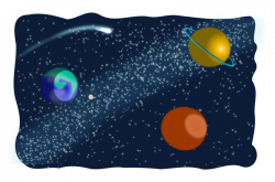 Clipart - Space sketched