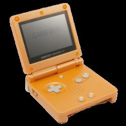 Orange Game Boy Advance SP transparent PNG - StickPNG