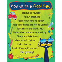 Pete the Cat How To Be A Cool Cat Chart   Pinterest   Chart, Cat and ...