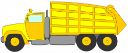 Garbage Truck Clipart Yellow | Letters Format