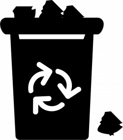 Garbage With Recycle Sign Overflowing With Trash Svg Png Icon Free ...