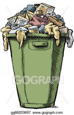 Stock Illustration - Full garbage. Clipart Illustrations ...