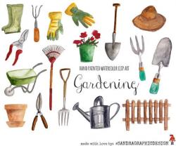Pin by Ya Va on Illustrations | Garden clipart, Garden tools ...