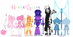 Noble Gases by lalonyx on DeviantArt