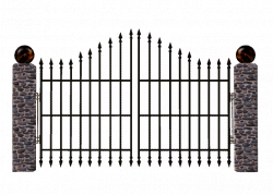 Thick Iron Gate Clipart