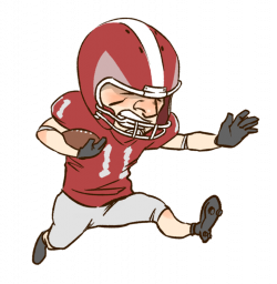 Football clipart person ~ Frames ~ Illustrations ~ HD images ~ Photo ...