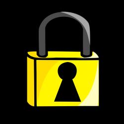 Lock | Free Stock Photo | Illustration of a cartoon padlock | # 15568