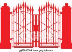 EPS Vector - Iron gate. Stock Clipart Illustration ...