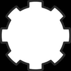 White Gear Clip Art at Clker.com - vector clip art online, royalty ...