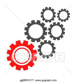 Stock Illustration - Abstract cogs - gears. Clipart Drawing ...