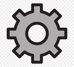 Setting Clipart Many Gear - Gear Outline Png Transparent Png ...