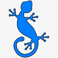 Gecko Lizard Iguana Reptile Blue - Blue Lizard Clip Art ...
