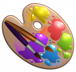 School Palette with Paint Brushes PNG Clipart Picture | School clip ...