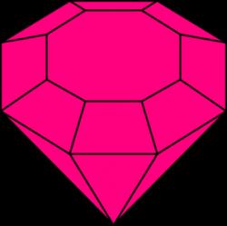 Pink Gem 2 clip art - vector | Clipart Panda - Free Clipart ...