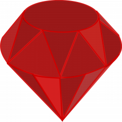 Clipart - Ruby, no shading, square area