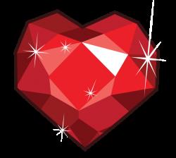 180214 - artist:fureox, fire ruby, gem, heart shaped, no pony ...