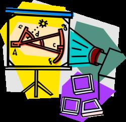 Slide Presentation Teaches Mathematics - Vector Image