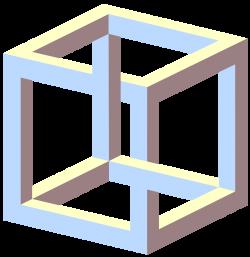 Impossible cube - Wikipedia | Illusions | Pinterest