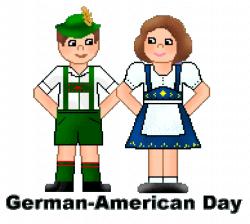 German American Day Boy And Girl Clipart