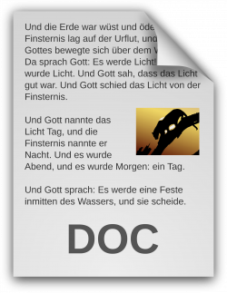 Clipart - German Text Document Icon