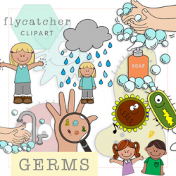 Hand Washing and Germs Clipart by Flycatcher Clipart | TpT