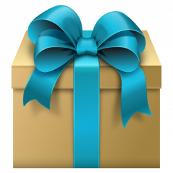 Gift Box with Blue Bow Free Clipart   Clip Art   Christmas ...