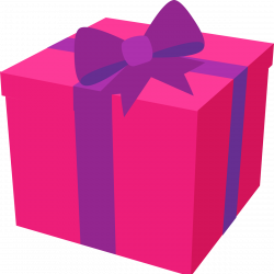 Hot Pink present w/ purple bow | Whimsical [2] | Pinterest | Happy ...